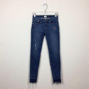 Sneak Peek Raw Hem Blue Skinny Jeans Sz 3
